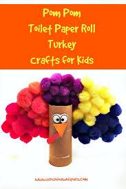 toilet paper turkey craft pom toilet paper roll turkey crafts for kids