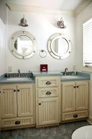 Nautical Bathroom Lighting Themed With Window Blinds And Vanity Nautical Bathroom Lighting Fixtures