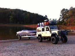 custom land rover defender rc boat launch recovery land rover defender 110 traxxas spartan