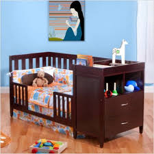 Baby Cribs With Changing Table Attached Bsf Baby Convertible Crib N Changer Espresso