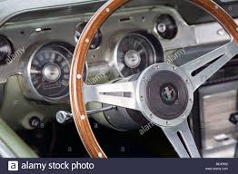 mustang vintage vintage ford mustang steering wheel and dashboard stock photo