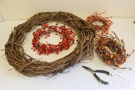 monogram wreath diy fall monogram wreath