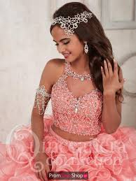 quinceanera dresses coral quince 26830 dress promdressshop