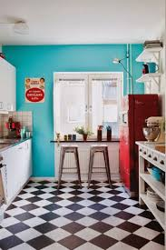 best black and white floor tiles design for small kitchen with