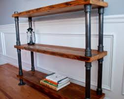 reclaimed wood bookcase etsy