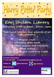 earl shilton library harry potter party barwell