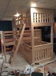 Crib Loft Bed White Bunk Beds With Crib Diy Projects