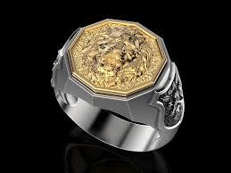 men ring men ring lion 3d printable model cgtrader