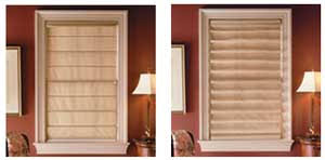Roman Shades Styles - roman shades accent verticals window coverings serving portland