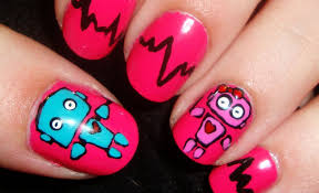 friday i u0027m in love robot love nail art youtube
