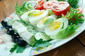cuisine du soleil salade composee du soleil mediterranean salad cuisine stock