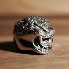 big silver rings images Big cat sterling silver ring hex cavelli biker rings jewellery jpeg
