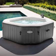 intex 120 bubble jets 4 person octagonal purespa walmart com