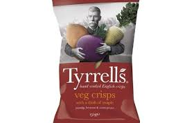 Roots Vegetable Crisps - tyrrells adds a new maple twist to mixed roots
