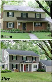 before and after home exteriors in cute two story houses ranch