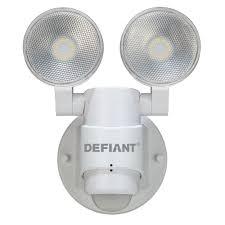 defiant 180 degree 2 head white outdoor flood light dfi 5936 wh