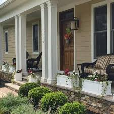 Porch Planter Ideas by Front Porch Planters For Filling In Space Between Porch Columns