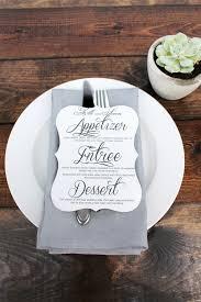 diy wedding menu cards emejing wedding menu card ideas contemporary styles ideas 2018