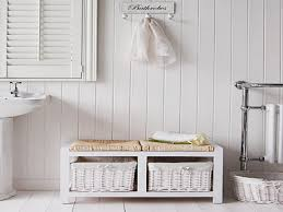bathroom storage bench