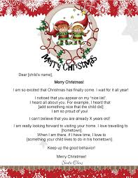 father christmas letter templates free free letters from santa santa letters