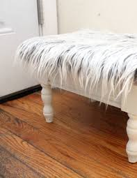 faux fur stool makeover quick u0026 easy moms and crafters