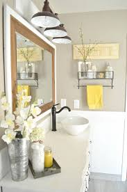 Bathroom Yellow And Gray - amazing black white yellow bathroom grey and bath accessories