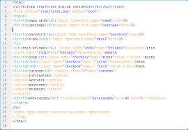 membuat form html online cara membuat form registrasi online di adobe dreamweaver cs 3