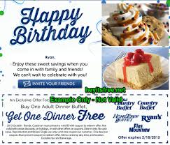 Menu For Hometown Buffet by Old Country Buffet Birthday Freebie U2022 Hey It U0027s Free