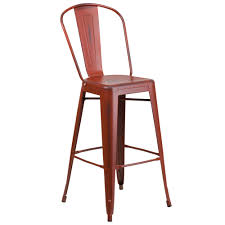 Red Metal Chair Flash Furniture Et 3534 30 Rd Gg Distressed Kelly Red Metal Bar