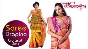 Draping Tutorial How To Drape A Saree Gujarati Style Quick Saree Draping