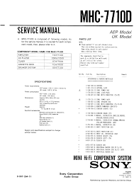 sony mhc 7710d service manual immediate download