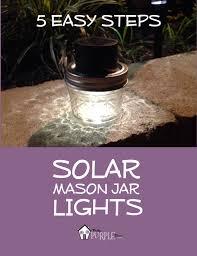 Diy Solar Light by Solar Mason Jar Lights Pretty Purple Door