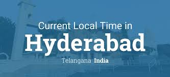 India Time Zone Map by Current Local Time In Hyderabad Telangana India