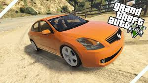 orange nissan altima nissan altima 3 5 se gta v mod gameplay youtube