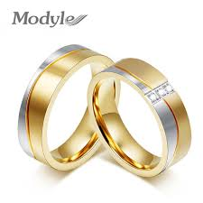 stainless steel wedding rings online shop modyle new fashion gold color wedding rings for men
