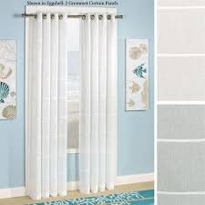 Sheer Grommet Curtains Horizon Stripe Semi Sheer Grommet Curtain Panels