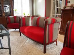 tissus d ameublement pour canapé cuisine tissus d ameublement en rayures grises et rouges gã