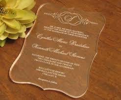 acrylic wedding invitations 2016 high quality acrylic clear wedding invitations card wedding