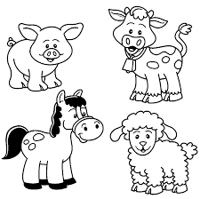 barn animals coloring pages eson me
