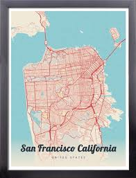 san francisco map framed 8 best sf geography images on francisco d souza