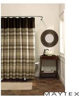 Chocolate Brown Shower Curtain Holiday Savings Maytex Simple Stripe Fabric Shower Curtain Aqua
