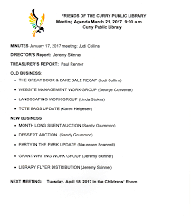 meeting agendas u2013 friends of curry public library