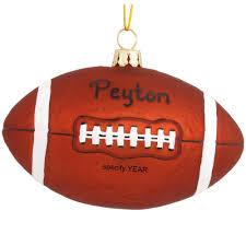 personalized football glass form ornament bronner u0027s christmas