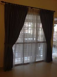 how to decorate a sliding glass door with curtains choice image