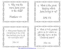 bible lessons kids christmas question cards games