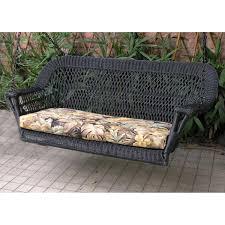 Black Resin Patio Furniture North Cape Manchester Resin Wicker Porch Swing Black Ultimate