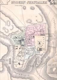 Map Of Jerusalem File Modern Jerusalem 1864 Mitchell Map Of Palestine Israel Or