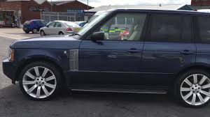 dark blue range rover 2005 54 range rover 4 4 v8 vogue u2013 68 000 miles u2013 11 795 youtube