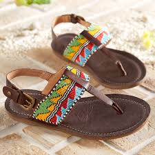 maasai beaded arrow sandals national geographic store