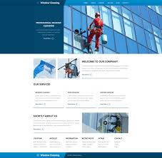 website template windows cleaning custom design company services